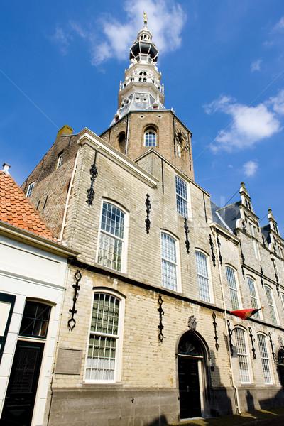 Stadhuis Nederland huis gebouw architectuur geschiedenis Stockfoto © phbcz