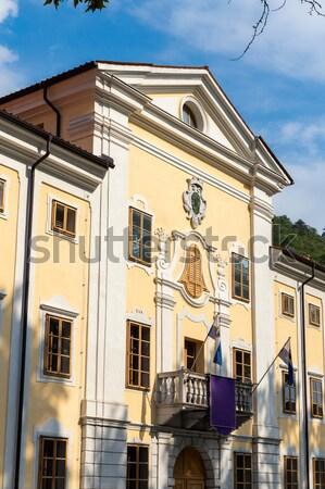 Complexo medieval casas República Checa edifício arquitetura Foto stock © phbcz