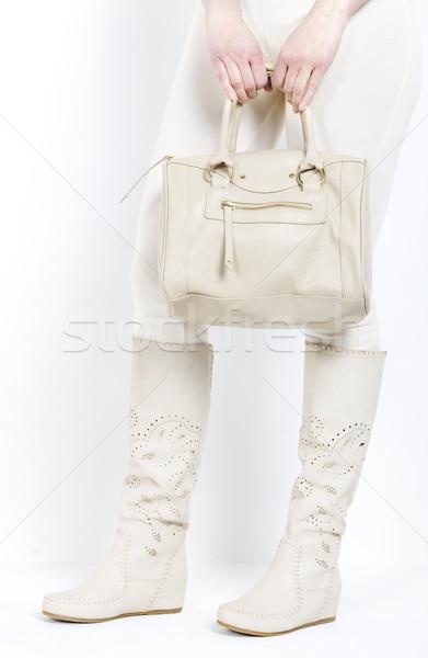 Részlet áll nő visel nyár csizma Stock fotó © phbcz