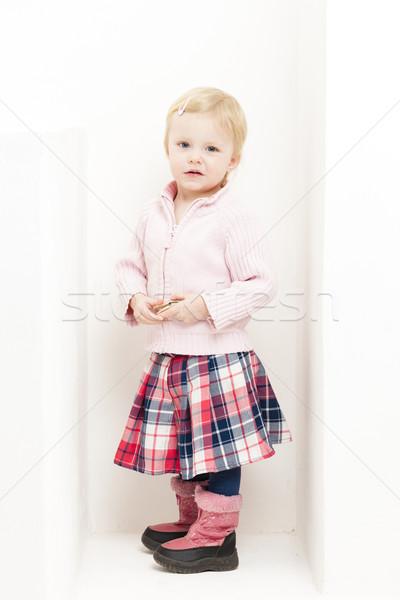 девочку юбка ребенка розовый Постоянный Сток-фото © phbcz