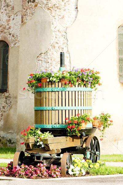 wine-press, Chatenois, Alsace, France Stock photo © phbcz