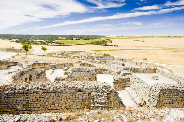 archaeological place, Roman city of Segobriga, Saelices, Castile Stock photo © phbcz