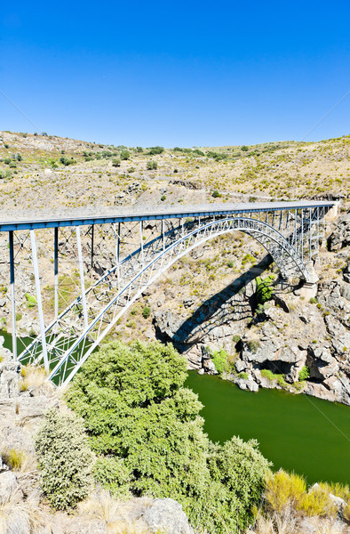 Requejo Bridge, Castile and Leon, Spain Stock photo © phbcz