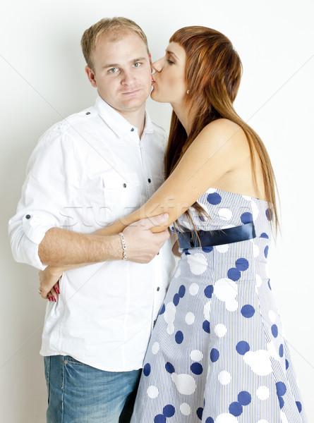portrait of kissing couple Stock photo © phbcz