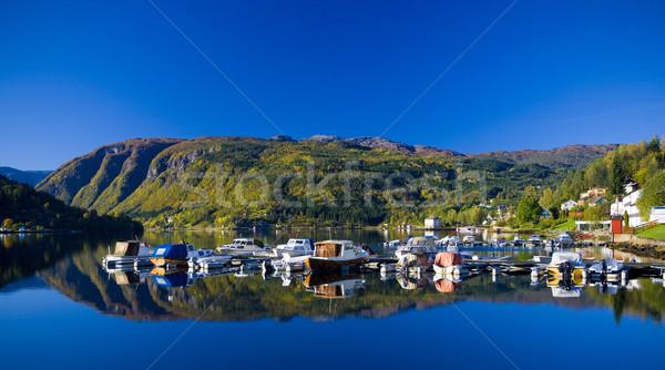 fjord Ulvik, Norway Stock photo © phbcz