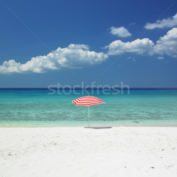 sunshade, Maria la Gorda Beach, Pinar del Rio Province, Cuba Stock photo © phbcz