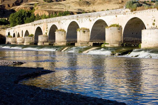 Roman bridge, Toro, Zamora Province, Castile and Leon, Spain Stock photo © phbcz