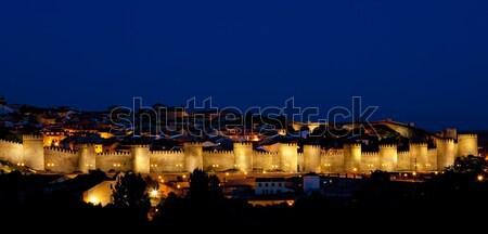 Avila at night, Castile and Leon, Spain Stock photo © phbcz