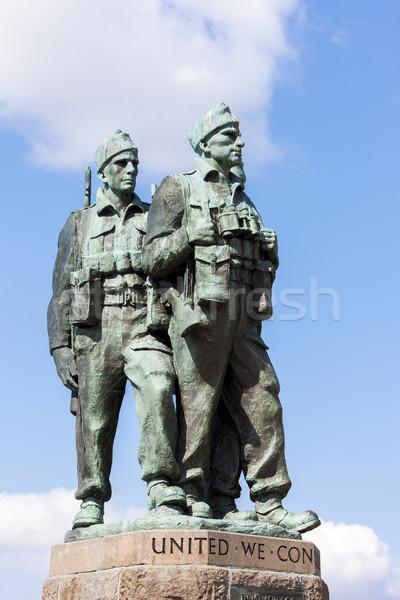 Comando ponte escócia guerra soldado Foto stock © phbcz