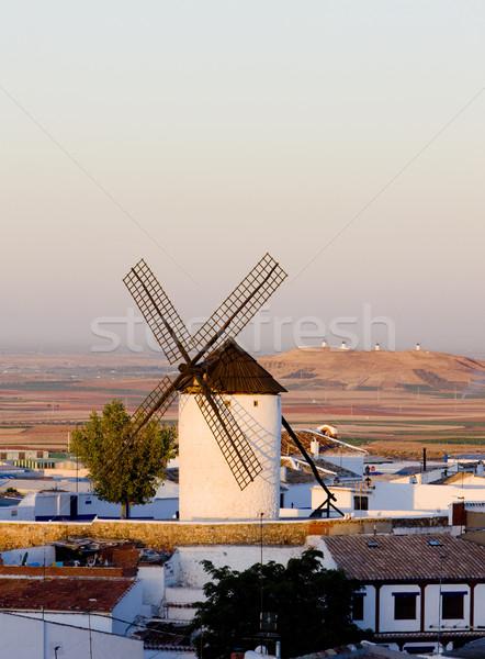 windmill, Campo de Criptana, Castile-La Mancha, Spain Stock photo © phbcz