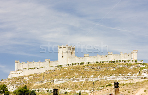 Penafiel Castle, Valladolid Province, Castile and Leon, Spain Stock photo © phbcz