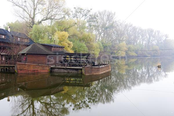 water mill on boat, Kolarovo, Slovakia Stock photo © phbcz