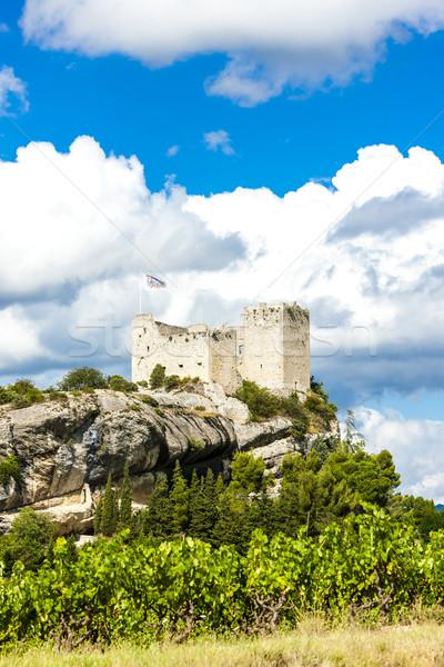 Ruinas castillo vina edificio arquitectura Europa Foto stock © phbcz