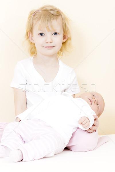 Retrato nina uno mes edad bebé Foto stock © phbcz