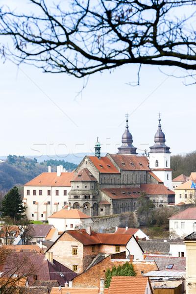 Bazilika Çek Cumhuriyeti ev kilise seyahat mimari Stok fotoğraf © phbcz