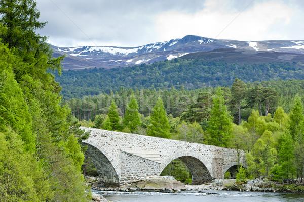 Puente tierras altas Escocia Foto stock © phbcz
