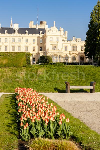 Lednice Palace with garden, Czech Republic Stock photo © phbcz
