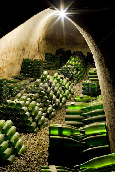 Bor archívum borászat Csehország italok alkohol Stock fotó © phbcz