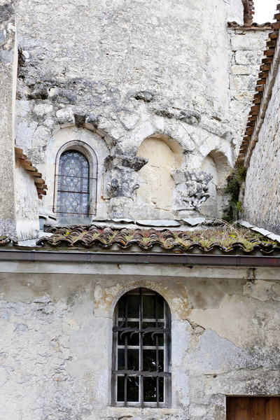 ruin of old church in Noaillan, Aquitaine, France Stock photo © phbcz