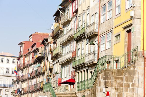 四半期 ポルトガル 建物 市 通り 旅行 ストックフォト © phbcz