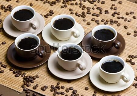 кофейные чашки кофе продовольствие пить интерьер Сток-фото © phbcz