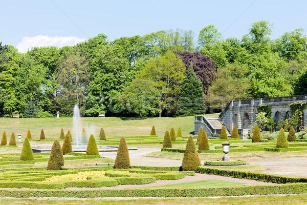 garden of Barnard Castle, North East, England Stock photo © phbcz