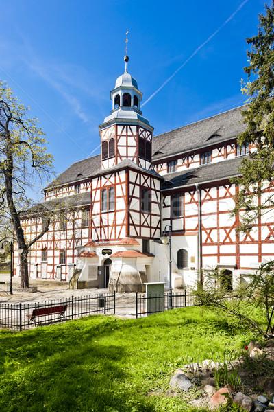 église Pologne architecture histoire tour extérieur Photo stock © phbcz