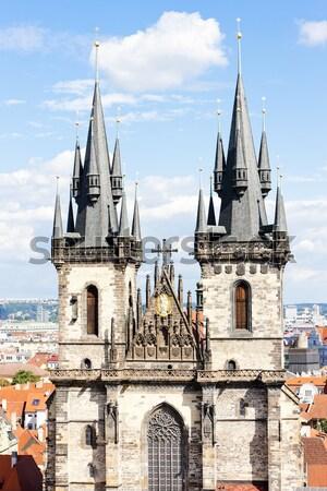 Stok fotoğraf: Kilise · kare · Prag · Çek · Cumhuriyeti · ev