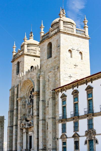 Stock fotó: Katedrális · Portugália · templom · utazás · építészet · Európa