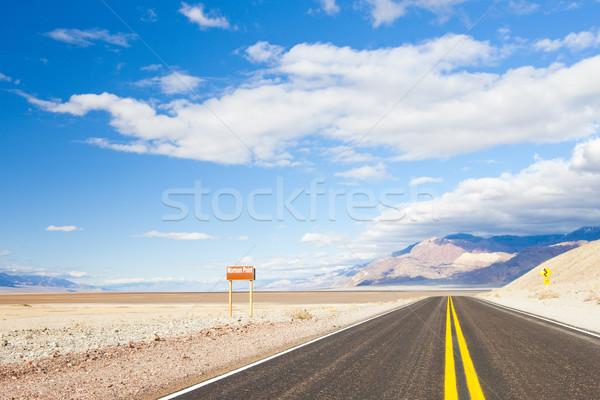Weg dood vallei park Californië USA Stockfoto © phbcz