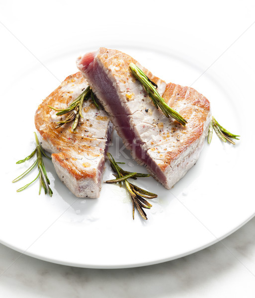 Atún filete placa comida saludable dentro Foto stock © phbcz