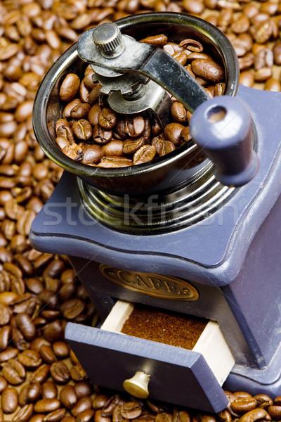 кофе мельница кофе пить напитки свежие Сток-фото © phbcz