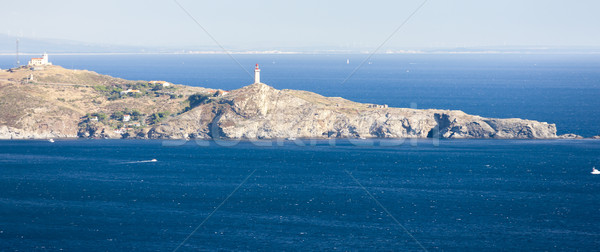 Cap Bear lighthouse, Languedoc-Roussillon, France Stock photo © phbcz