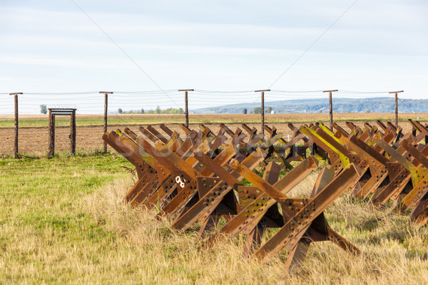 border near Satov, Czech Republic Stock photo © phbcz
