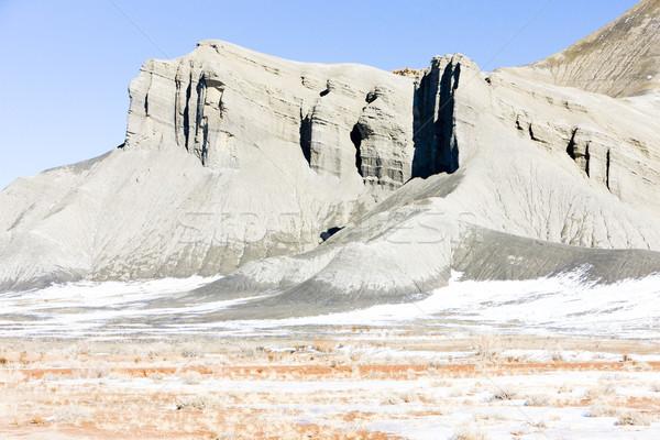 зима пейзаж Юта США снега рок Сток-фото © phbcz