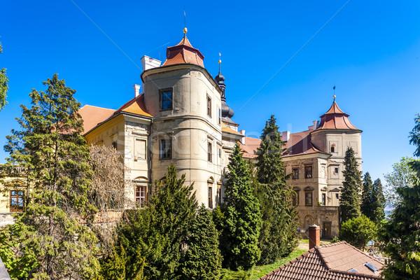 Saray Çek Cumhuriyeti seyahat kale mimari açık havada Stok fotoğraf © phbcz
