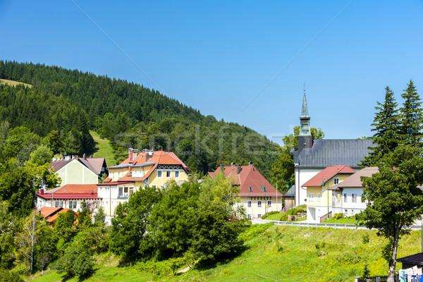 Alsó Ausztria ház templom építészet Európa Stock fotó © phbcz