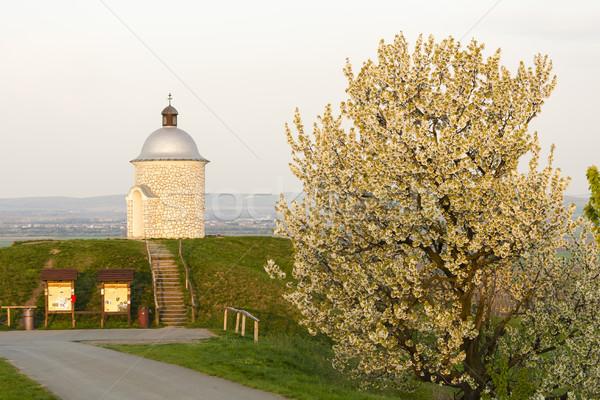 Kápolna Csehország tavasz utazás építészet növény Stock fotó © phbcz