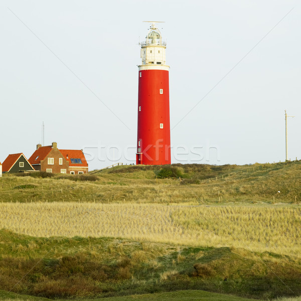 Stok fotoğraf: Deniz · feneri · ada · Hollanda · Bina · güvenlik · seyahat