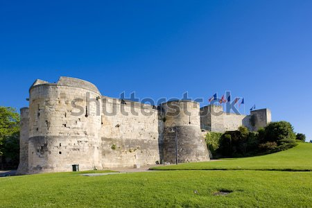 Ducal Castle, Caen, Normandy, France Stock photo © phbcz