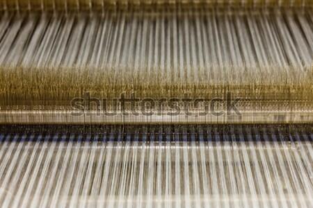 Textiel machine technologie industrie fabriek Stockfoto © phbcz