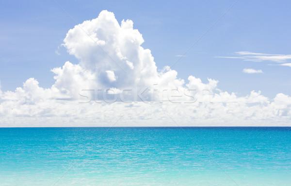 Caribbean zee Barbados wolken landschap wolk Stockfoto © phbcz