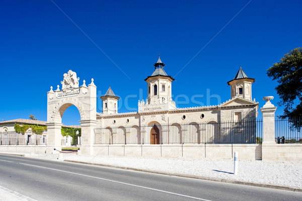 Chateau Cos D'Estournel, Bordeaux Region, France Stock photo © phbcz
