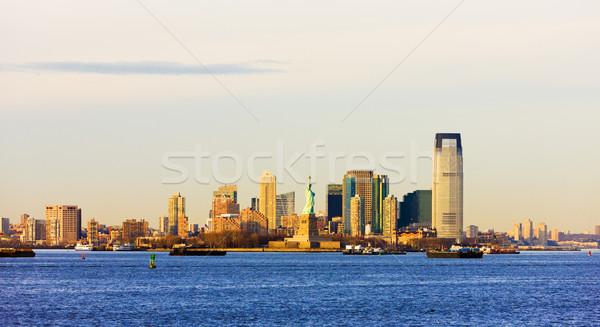 New Jersey USA stad reizen gebouwen wolkenkrabber Stockfoto © phbcz