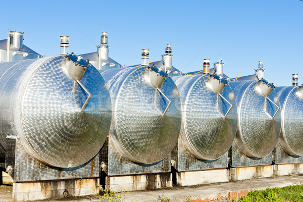 fermentation tanks, Begadan, Bordeaux Region, France Stock photo © phbcz