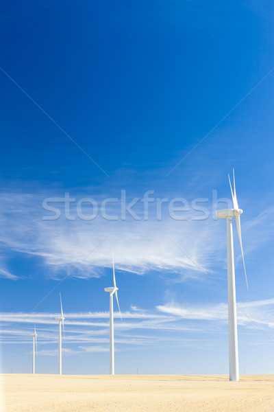 Stock photo: wind turbines, Castile and Leon, Spain