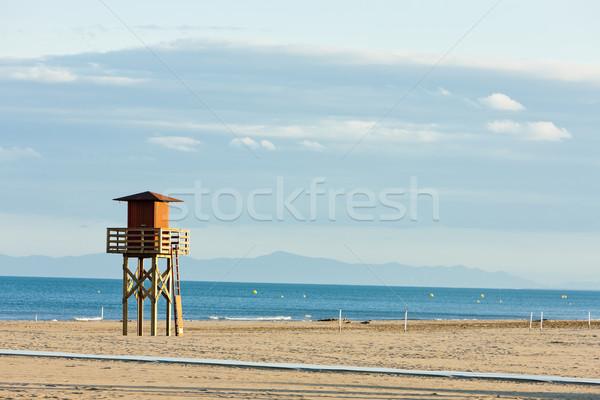 ライフガード キャビン ビーチ 海 旅行 ヨーロッパ ストックフォト © phbcz