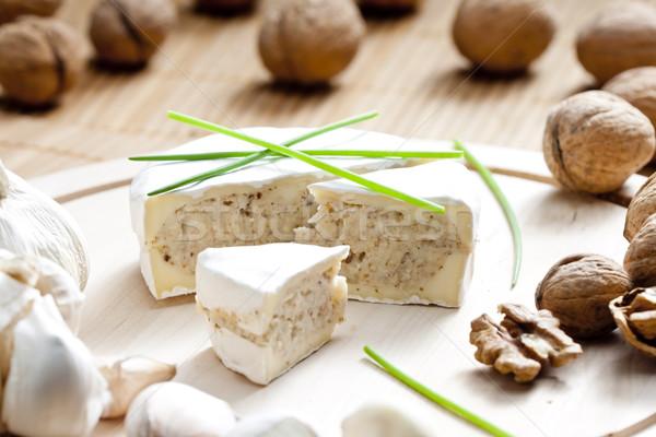 Kaas mengsel gehakt gezonde binnenshuis voeding Stockfoto © phbcz