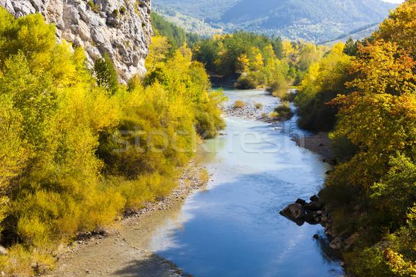 ストックフォト: 谷 · 川 · 秋 · フランス · 水 · ツリー