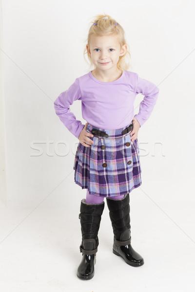 Piedi bambina indossare gonna ragazza bambino Foto d'archivio © phbcz